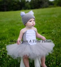 little koala bear gray white tutu dress newborn 3 6 9 12 18