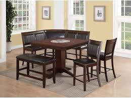 dining room table with lazy susan crown mark harrison counter height table with 22