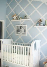 Modern Baby Room Furniture by Design Reveal Modern Baby Blue Cross Walls Nursery And Walls