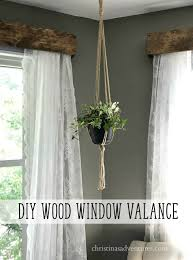Lace Curtains And Valances Diy Wood Window Valance Wood Window Valances Valance Tutorial