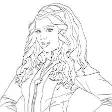 disney descendants coloring pages getcoloringpages com