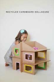 How To Make A Small Toy Box by 10 Cardboard Crafts For Kids Cardboard Dollhouse Diy Recycle