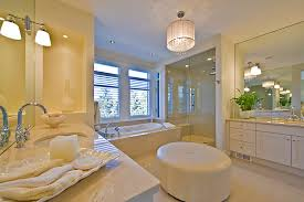 Bathroom Ottoman White Leather Ottoman Bathroom Contemporary With Blinds Chandelier