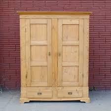 Storage Armoire Cabinet Antique Pine Armoire Cabinet Storage Closet In Williamsburg Kings
