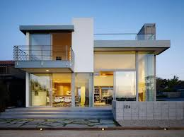 2 story modern house plans contemporary 2 story house design with deck architecture