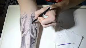 ballpoint pen tattoo xd youtube