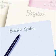 embossed stationery 31 best personalized embossed cards notes images on