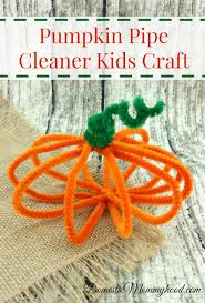 pumpkin pipe cleaner kids craft domestic mommyhood