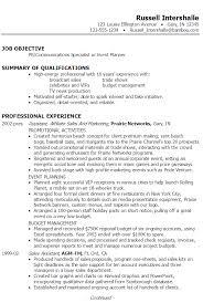 pr resume objective advertising public relations resume