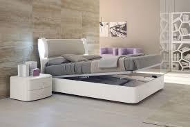 Modern Platform Bed With Lights - modern italian platform bed with storage option and lights kansas