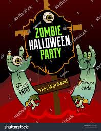 happy halloween party vector illustration poster stock vector