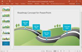 road map powerpoint template free editable agile roadmap
