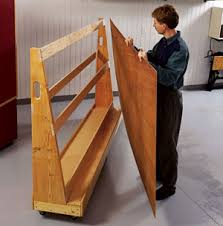 Wood Storage Rack Woodworking Plans by Roll Around Wood Cart Plans Workshop Lumber Storage Pinterest