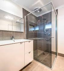 semi frameless shower screen geelong splashbacks mode mode semi frameless shower screen over lap door bathroom ensuite renovation ideas