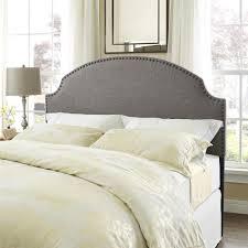 white nailhead headboard sauder beds u0026 headboards bedroom furniture the home depot