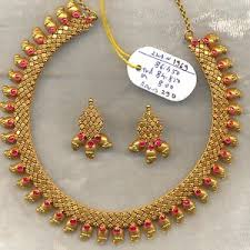 gold necklace ruby images Vintage solid 22k gold ruby gemstone necklace earring pair set jpg