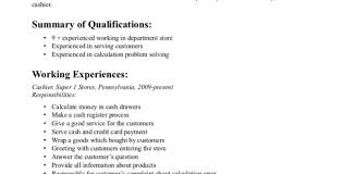 sample resume for cashier associate resume retail sales associate resume thrilling how to write a