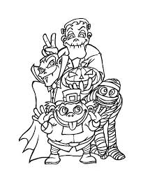 creepy halloween coloring pages monsters hallowen coloring pages