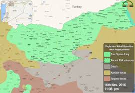 Syria Battle Map by Syrian Army Troops And Their Allies Are Prepared To Attack Al Bab