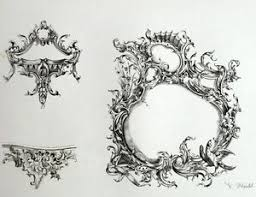 ornament frames rocaille seed rococo architecture engraving