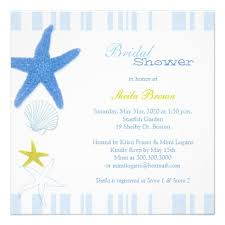 Nautical Bridal Shower Invitations Blue Starfish Stripes Nautical Personalized Your Bridal Shower