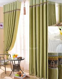 Hotel Drapes Fabric Curtains Wonderful Bud Green Suede Printing Hotel Style