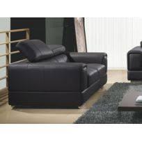 canapé cuir noir la maison du canapé canapé cuir 3 places julietta noir achat