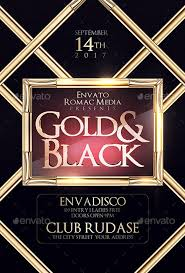 ffflyer black gold birthday party flyer template flyer for