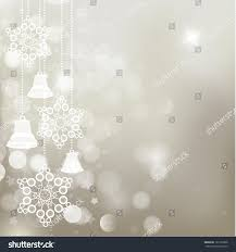 silver christmas background bells snowflakes vector stock vector