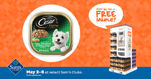 food clubs free cesar dog food sle at sam s club freeosk inc