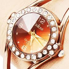 ladies bracelet wrist watches images Women golden fashion bangle watch skufw002 women 39 s watches jpg