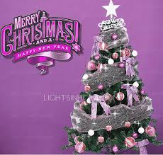 purple ornaments pinecone led lights trss