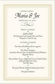 wedding menu templates wedding menu template sponsorship letter