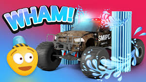 3d monster truck racing police car wash 3d police monster truck cartoon for kids
