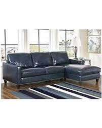 Navy Blue Leather Sectional Sofa Don T Miss This Bargain Member S Oliver Top Grain Leather