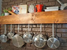 Kitchen Rack Designs by Diy Kitchen Storage Shelf And Pot Rack Hgtv