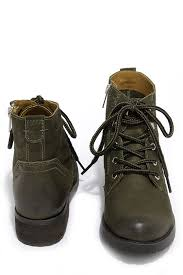 womens boots green leather steve madden gobbin olive green leather ankle boots green