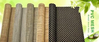 pvc woven rattan floor mat material synthetic rattan material