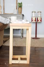 simple wood simple diy wood side table