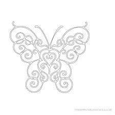 free printable butterfly stencils free printable stencils