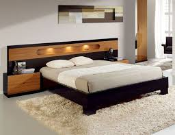 Headboard For Platform Bed Platform Bed With Wide Headboard Sal Collection By Benicarlo