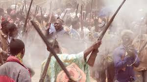 celebration in cameroon small willage near bamenda march