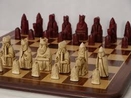 berkeley chess ltd isle of lewis chess set ivory and red 0