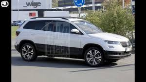 skoda yeti 2018 2018 skoda yeti karoq first pictures without camouflage youtube