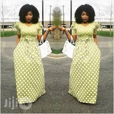 lemon green polka dot dress for sale in kosofe buy clothing from