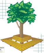 how to build wraparound tree benches 5 free plans