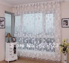 vorhã nge wohnzimmer freies verschiffen burnout voiles weiß blätter vorhänge für