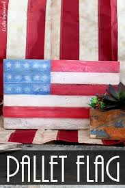 Pallet American Flag Diy Pallet Flag Tutorial Step By Step Consumer Crafts