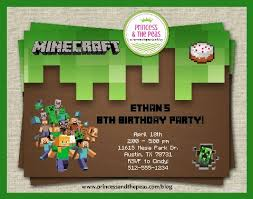 minecraft birthday invitations minecraft birthday party affordable kids birthday party ideas