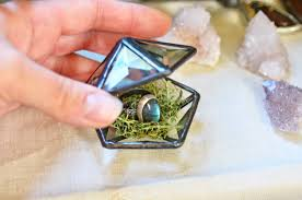 glass wedding rings stained glass wedding ring box ring bearer box engagement